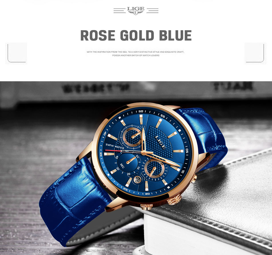 He9bc8f1d8d174569aaa1fc4a1e15064dC LIGE New Men Watch Top Brand Blue Leather Chronograph Waterproof Sport Automatic Date Quartz Watches For Mens Relogio Masculino