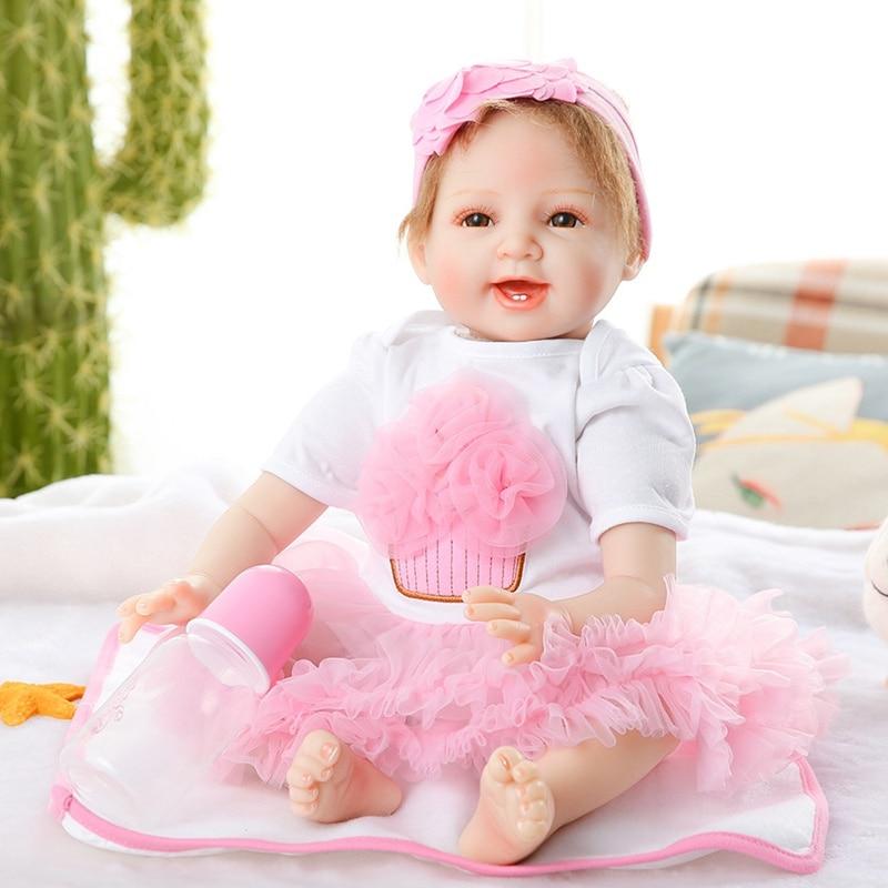 JULY'S SONG 53CM Reborn Baby Dolls Adorable Lifelike Baby Reborn Dolls For Girls Cloth Body Soft Birthday Gift For Children