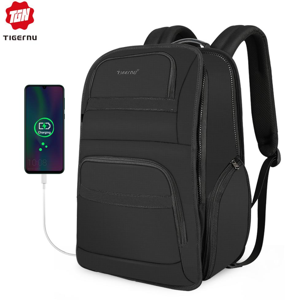 Tigernu Anti Theft Travel Laptop Backpack For 15.6-17 Bag For Men Nylon Mochila With RFID Water Resistant Casual Backpacks Male