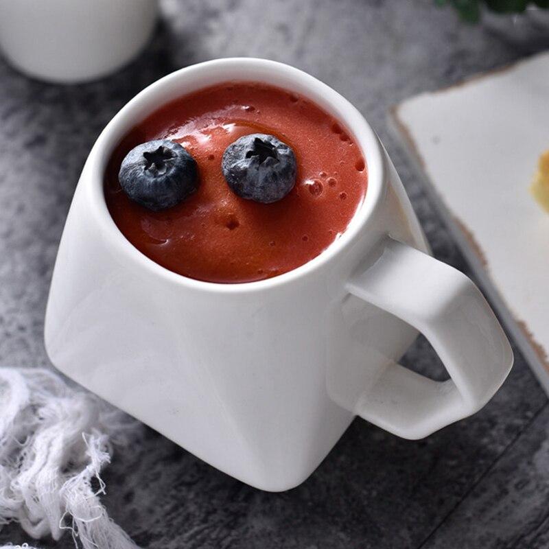 330ml Cerative Ceramic Mug with Tea Bag Holder Special Slotted Cup Tea Bag Holding Mug Fancy Gift for Tea Drinker serveware