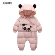 LILIGIRL Baby Boy Girl Clothes Newborn Winter Hooded Rompers Thick Cotton Outfit Baby Jumpsuit Children Costume Toddler Romper baby winter clothes cartoon dog thick warm toddler boy girl romper hooded jumpsuit children snowsuit down kids clothing