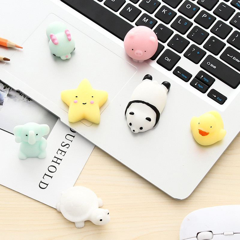 Cartoon Vinyl Doll Animal Squishy Cute Mini Pig Duck Snails Squishes Slow Rising Antistress Decompression Squeeze Children Toys