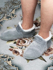 House Slippers Floor-Shoes Warm Socks Suede Plush Male Big-Size Men 48 Winter for Soft