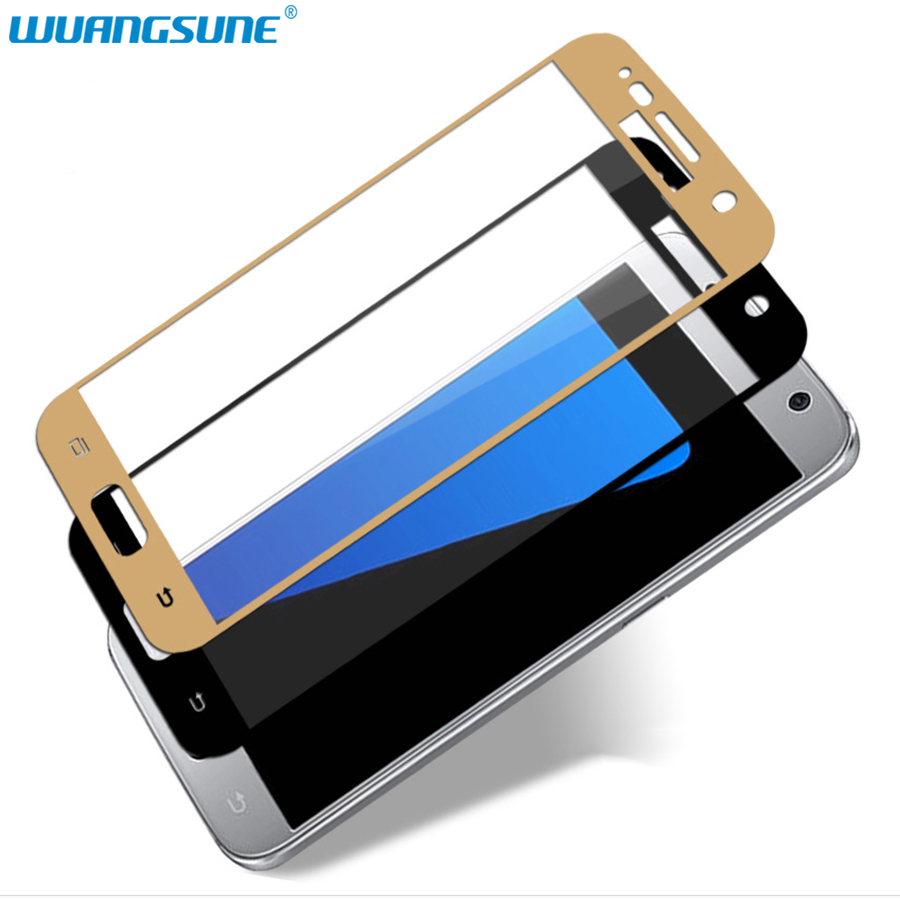 Full Cover Tempered Glass For Samsung Galaxy S7 G9300 G930 Screen Protector Film 9H Hardness Protective glass