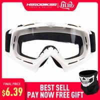 HEROBIKE Motorrad Off-Road Racing Goggles Winter Skate Schlitten ATV Brillen Motocross DH MTB Gläser Einzigen Objektiv Löscht