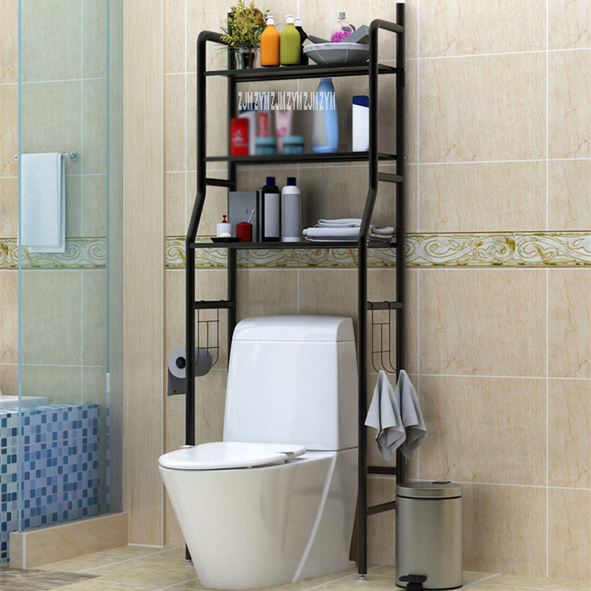 landing Type Bathroom Organizer Made With Metal Finish For Shampoo And Towel Accessory 1