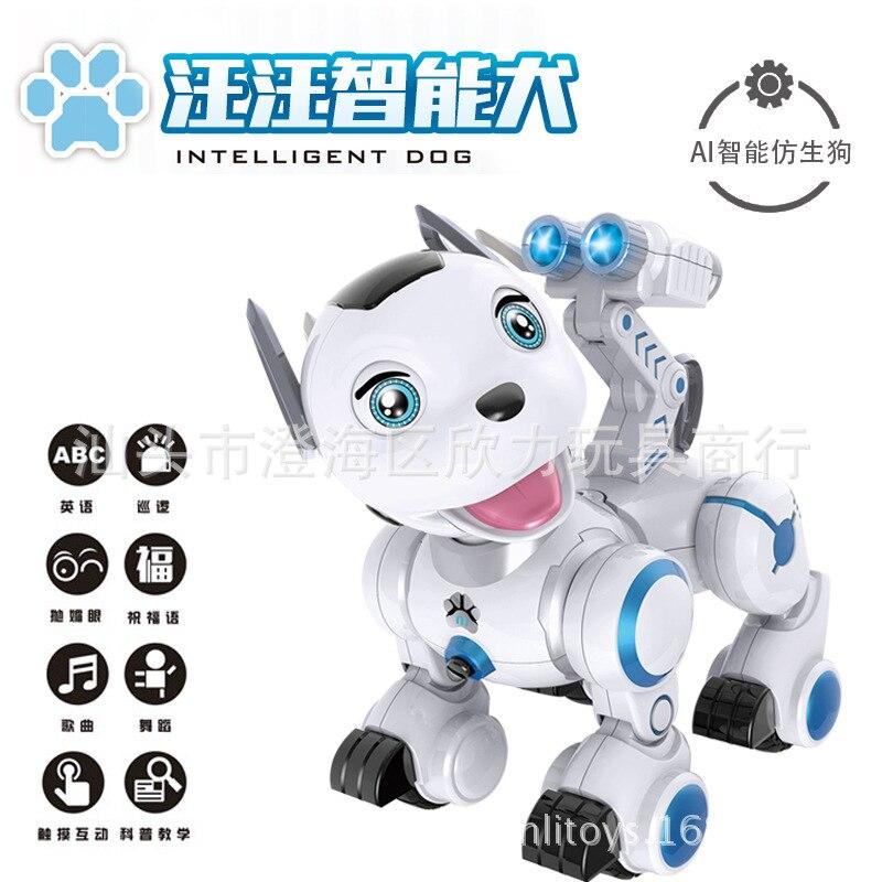 K10 inteligente ladrando perro de patrulla de Control remoto de la primera infancia educativo Robot perro de juguete de paseo de juguete para niños