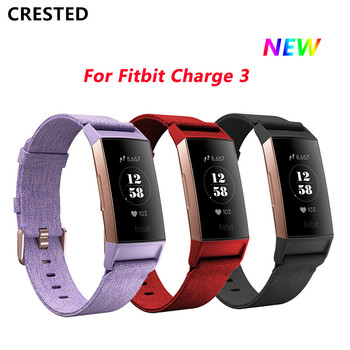 Canvas strap for fitbit charge 4/3 band replacement watchband Solid color wrist bracelet belt for fitbit charge3 new watchband фото