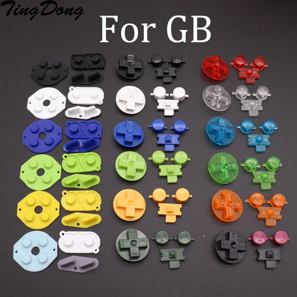 2 botões condutores de borracha ajustados d-pad para gameboy clássico para gb dmg a b botões diiy botão conjunto substituição