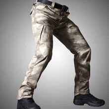 Хлопковые брюки карго мужские водонепроницаемые быстросохнущие тактические брюки милитари армейские штаны с несколькими карманами для занятий спортом на открытом воздухе походные брюки