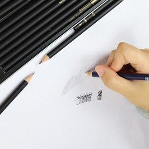 Image 3 - Карандаши NYONI Углеродные для рисования скетчей, набор из 29 предметов, 2H HB 2B 4B 6B 8B 12B 14B древесный уголь, ручка для рисования, Канцтовары