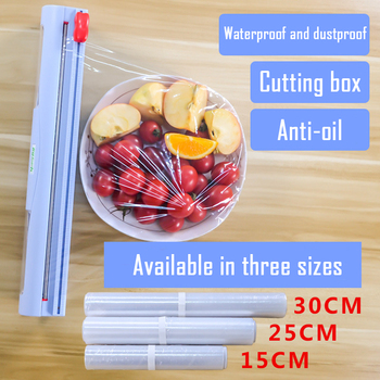 ABS Good Useful Fruit Food Fresh Keeping Plastic Cling Wrap Dispenser Preservative Film Cutter Kitchen Tool Accessories best price stainless steel cling film sealing machine food fruit vegetable fresh film wrapper cling film sealer packaging