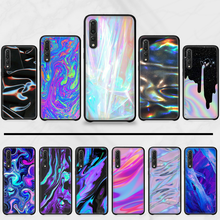Accessories holographic Cute Phone Case Cover Hull For Huawei P9 P10 P20 P30 Pro Lite smart Mate 10 Lite 20 Y5 Y6 Y7 2018 2019(China)
