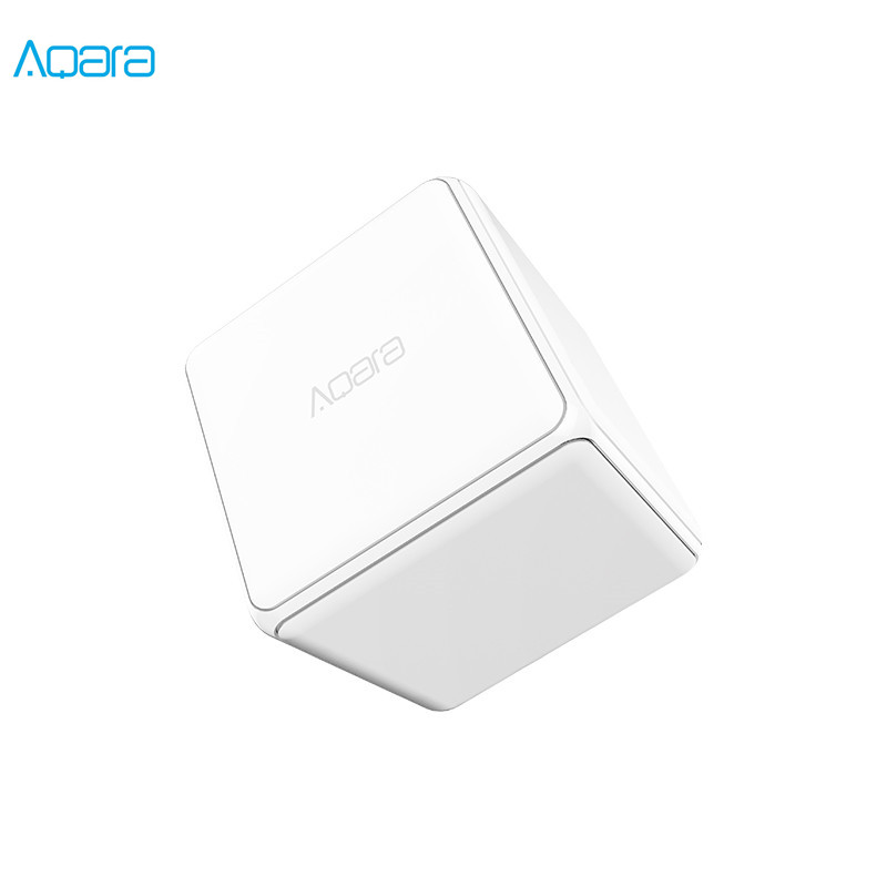 Original Aqara Cube Controller Zigbee Version Controlled by Six Actions with Phone App for Smart Home Device TV Smart Socket(China)