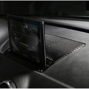 Image 4 - Carbon Fiber Center Console Navigatie Frame Cover Trim Voor Audi A3 8V 2013 2019 Dashboard Panel Decals Interieur moulding