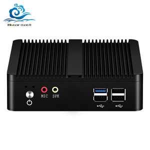 HLY Fanless Mini Pc Intel Celeron j1900 Win Windows 10 7 8 Linux Thin Client Minipc Pfsense Micro Lan Port Tv Desktop Computers
