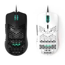 Светильник aj390 проводная мышь с отверстиями игровая 6 dpi