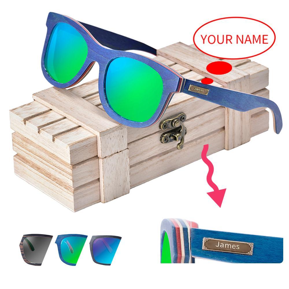 Óculos de Sol Óculos de Sol de Madeira de Pássaro Personalizado para Homens e Mulheres Polarizado Okulary Madeira Pássaro Uv400 Oem de