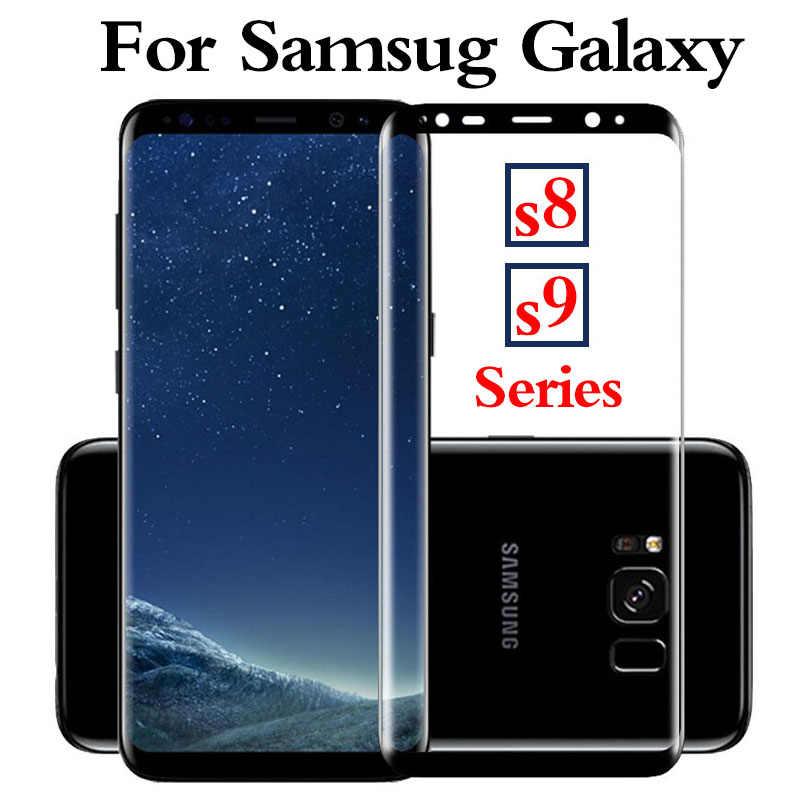 زجاج واقي على galaxy s8 s9 plus s8plus s9plus واقي للشاشة حقيبة لهاتف سامسونج glaxy s 8 9 8 زائد 9 زائد غطاء فيلم glas 3d