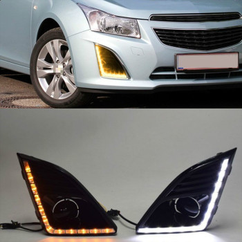 DRL For Chevrolet Cruze 2013 2014 2015 Daytime Running Lights fog lamp cover headlight 12V Daylight for Chevy