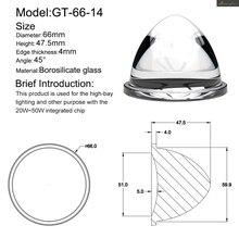 Plano convex Optical Glass Lens for LED Flashlight torch Auto car lamp spotlight projection light