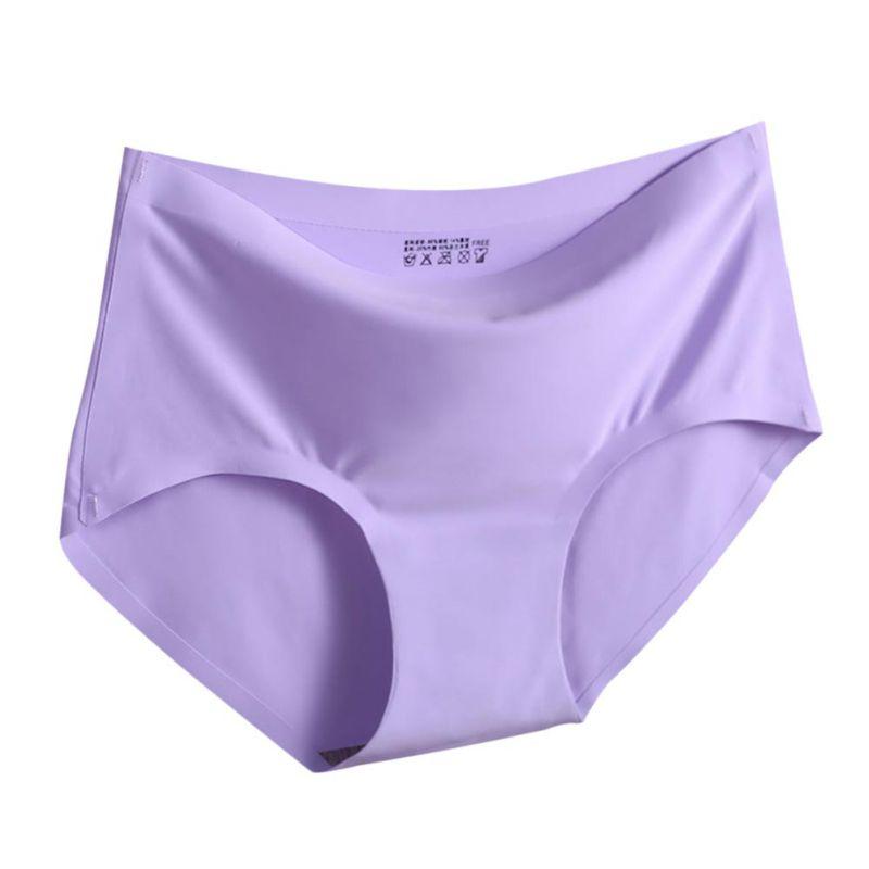 Girls Seamless Solid Panties Briefs Intimate Women Ladies Summer Underwear Women\'s Intimates