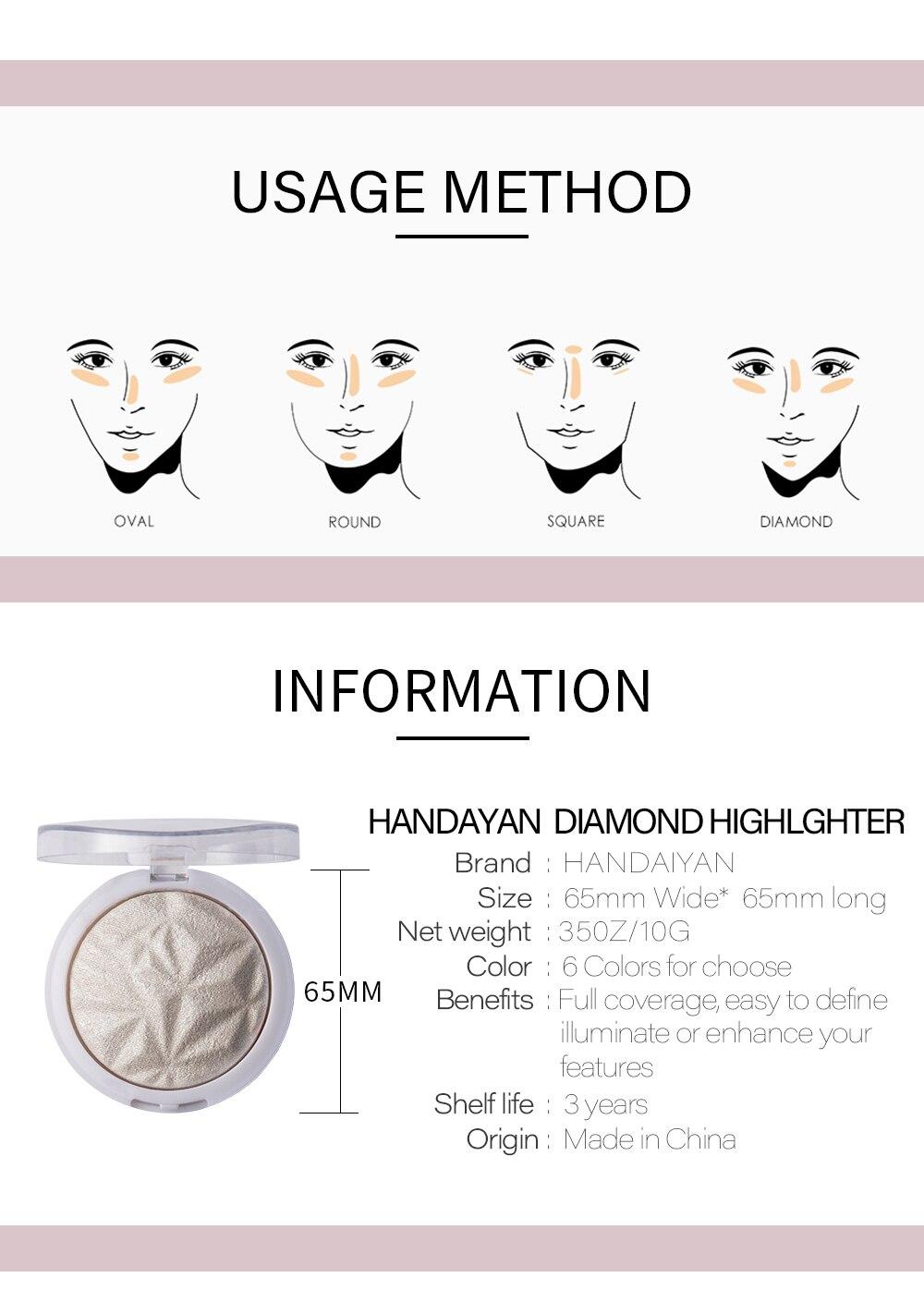 NEW! Beauty Makeup Shimmer Highlighter&Bronzer Stick Diamond Pressed  Waterproof Highlight Palette Concealer Brighten Skin Shimmer Bronzer The  Best