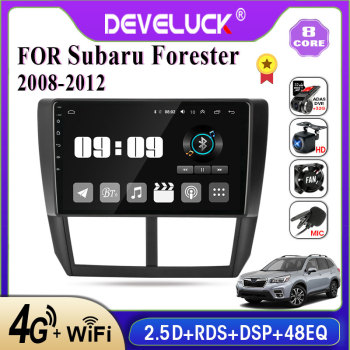 2 din Android 10 car Radio multimedia Player For Subaru Forester 3 SH 2008-2012 2din Stereo Screen GPS Navigation RDS 4G+64G DSP image