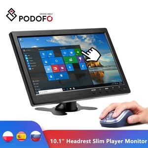 "Podofo 10.1"" Car Headrest Monitor Slim Player Full HD Digital TFT LCD Screen Slim Design UV Coating HDMI VGA AV USB SD Port(Hong Kong,China)"