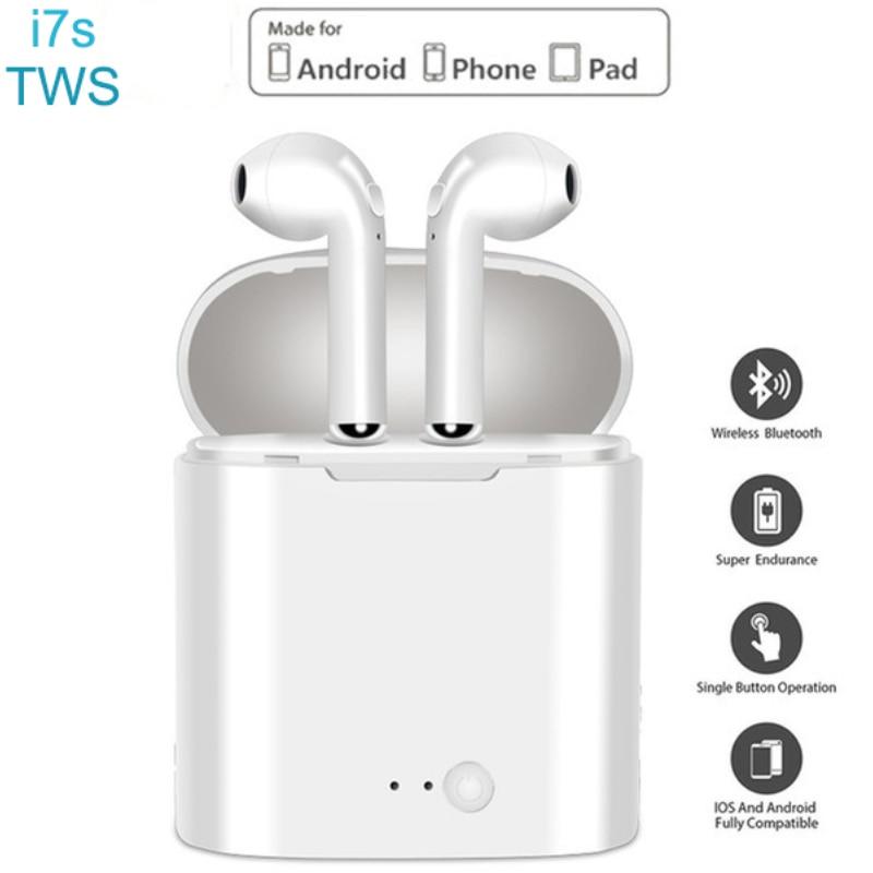 I7s TWS I7 Sport Earbuds Headset With Mic For Smart Phone IPhone Xiaomi Samsung Huawei  Wireless Earpiece Bluetooth Earphones