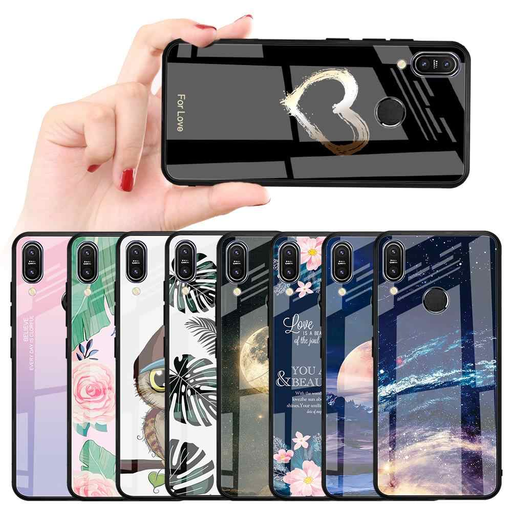 Luxury Tempered Glass Phone Case For Asus Zenfone Max Pro M2 ZB633KL ZB631KL M1 ZB601KL ZB602K Capa Bling Fundas Coque Capa Fund