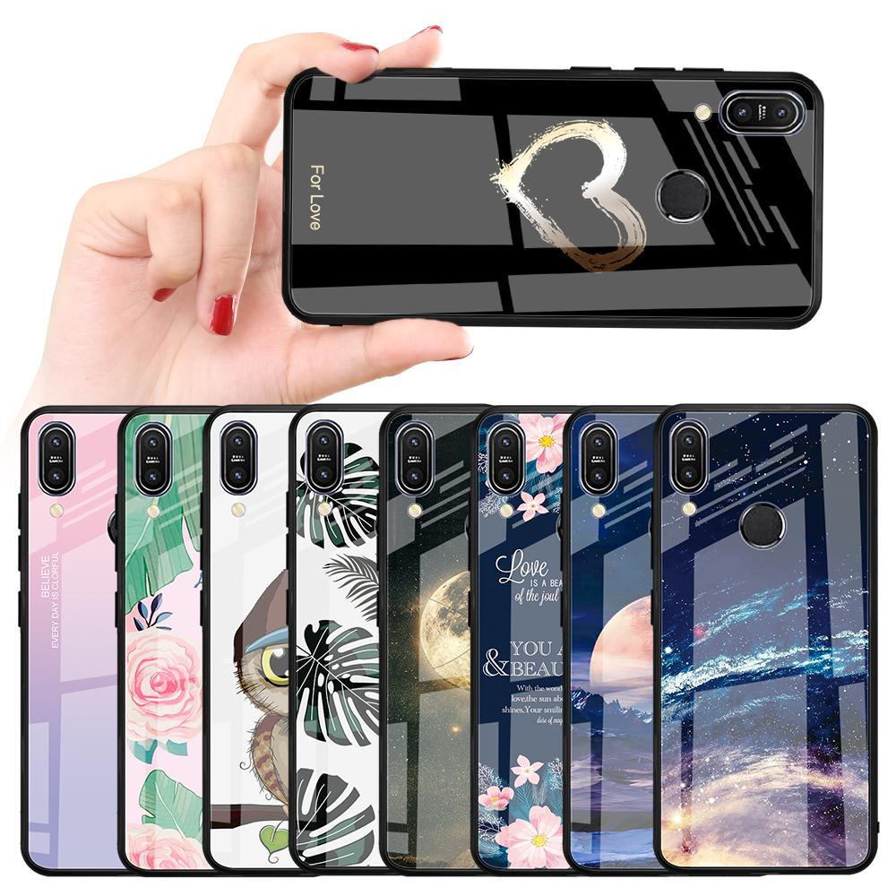 Luxury Tempered Glass Phone Case For <font><b>Asus</b></font> Zenfone Max Pro M2 ZB633KL ZB631KL M1 <font><b>ZB601KL</b></font> ZB602K Capa Bling Fundas Coque Capa Fund image