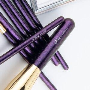 Image 4 - ANMOR 10 Pcs Make Up Pinsel Set Für Foundation Powder Blush Lidschatten Concealer Lip Eye Make Up Pinsel Kosmetik Schönheit Werkzeuge