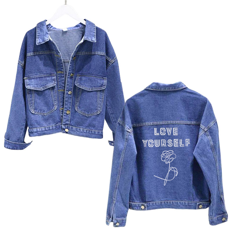 BTS Blue Denim jacket (Love Yourself Collection)