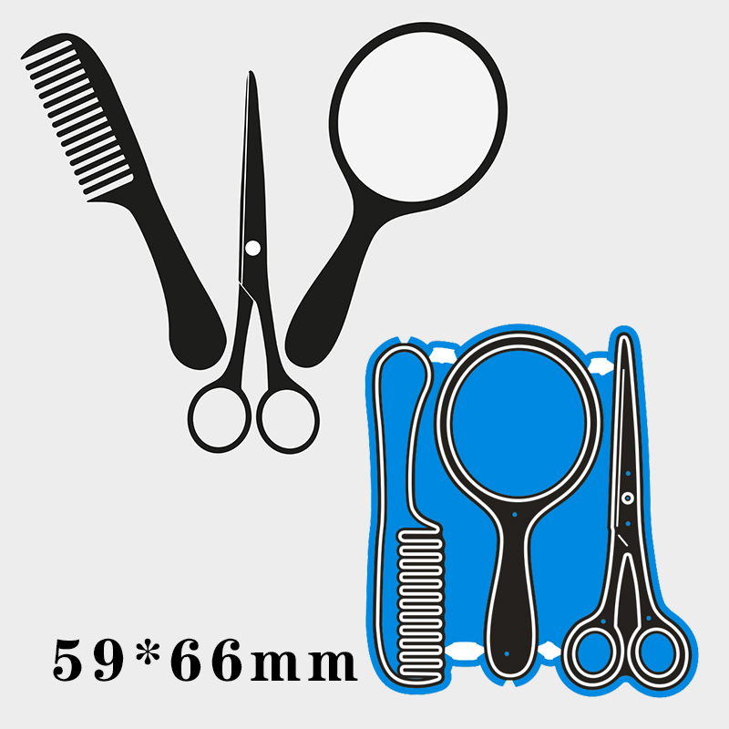59*66cm Barber Tools New Metal Cutting Dies Scrapbooking DIY Album Paper Card Craft Embossing Stencil Dies
