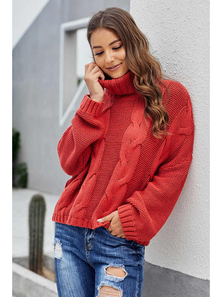 2020 가을 여성 패션 터틀넥 스웨터 기본 여성 풀오버 Batwing 슬리브 솔리드 Femme 캐주얼 니트 Streetwear 탑스