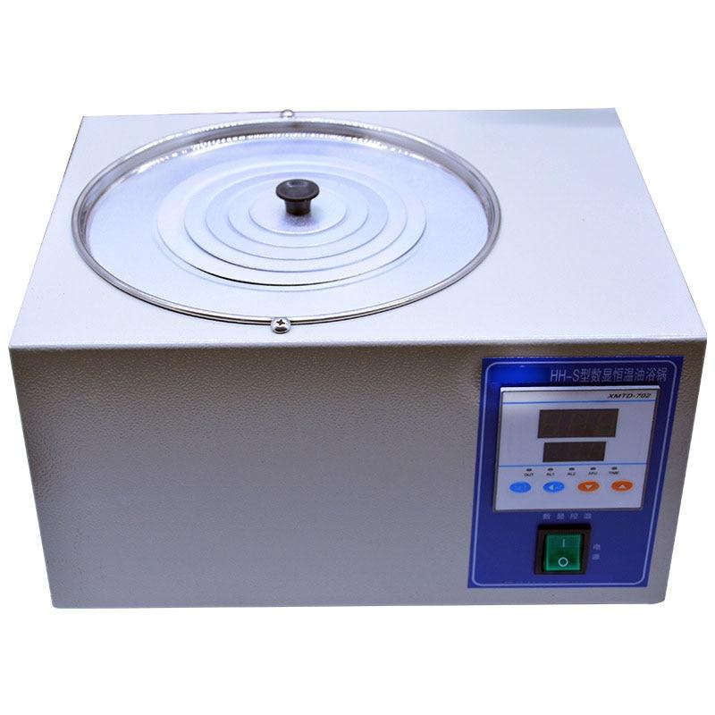 Heating Fast Power Consumption Low Oil Bath Laboratory Oil Bath Digital Display Constant Temperature Oil Bath Hh s 3l 5L - 4