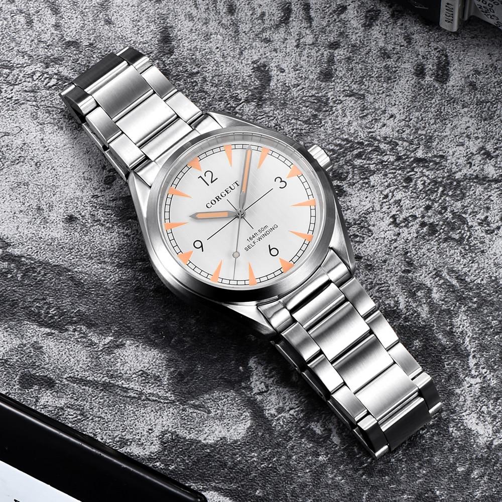 Luxury Top Brand Corgeut 41mm Male Clock Miyota Automatic Relogio Masculino Full Steel Mechanical Sapphire Glass Men Wristwatch