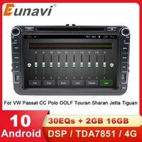 Eunavi Android 2 Din Car Multimedia GPS Radio For VW Passat B6 b7 Tiguan Golf 5 Polo Jetta Skoda Octavia Touran DVD Head unit 4G