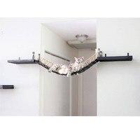Halatlı kedi köprü ahşap kedi ağacı kulesi ev duvar tırmanma ağacı duvar Sisal tırmalama sütunu Scratcher kedi pençe pençe Pet mobilya