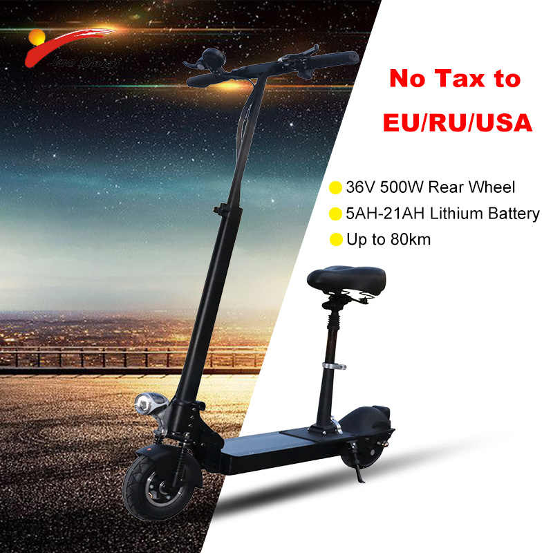 36V500W Electric Scooter 73km Long Distance Rear Motor Wheel 21AH Battery Adult kick e scooter folding patinete eletrico Scooter