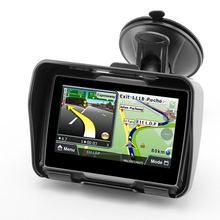 4,3 дюймов сенсорный экран мотоцикл gps наружное портативное навигационное устройство водонепроницаемый ударопрочный пылезащитный gps навигатор