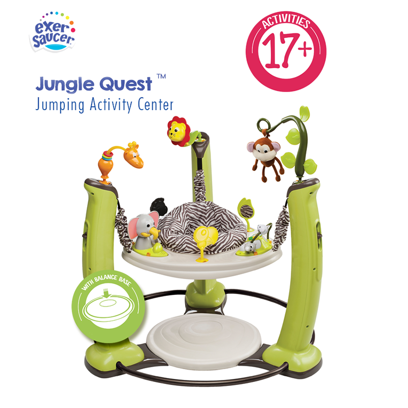 Exersaucer By Evenflo Jump & Learn Jungle Quest Stationary Jumper Baby Toy