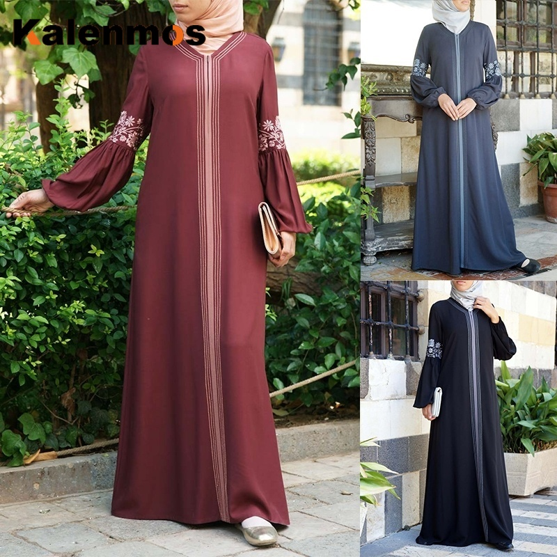 Muslim Abaya Dress Women Dubai Arab Maxi Splice Kaftan Ramadan Pray African Turkey UAE Islamic Clothing Long Robes Plus Size 5XL