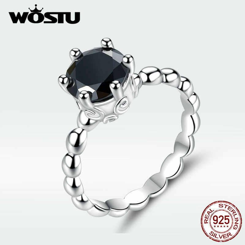 WOSTU ホット販売 925 スターリングシルバーリング女性用ヨーロッパオリジナル結婚式のファッションブランドリング宝石類のギフト