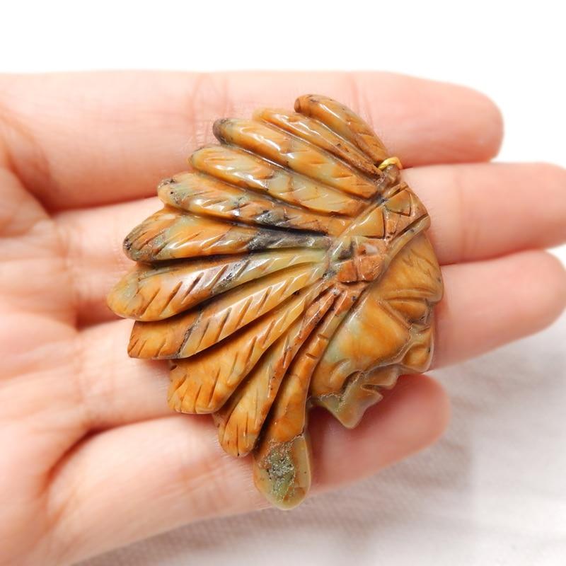 Pierre naturelle les indiens Chrysocolla collier pendentif perle 49x40x19mm 22.1g pierre à la mode bijoux accessoire