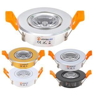 Image 1 - 10pcs Round Adjustable LED Dimmable Downlight Super Bright Recessed 3W LED Spot light LED decoration Ceiling Lamp AC110V 220V