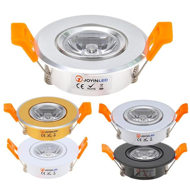 10pcs Round Adjustable LED Dimmable Downlight Super Bright Recessed 3W LED Spot light LED decoration Ceiling Lamp AC110V 220V