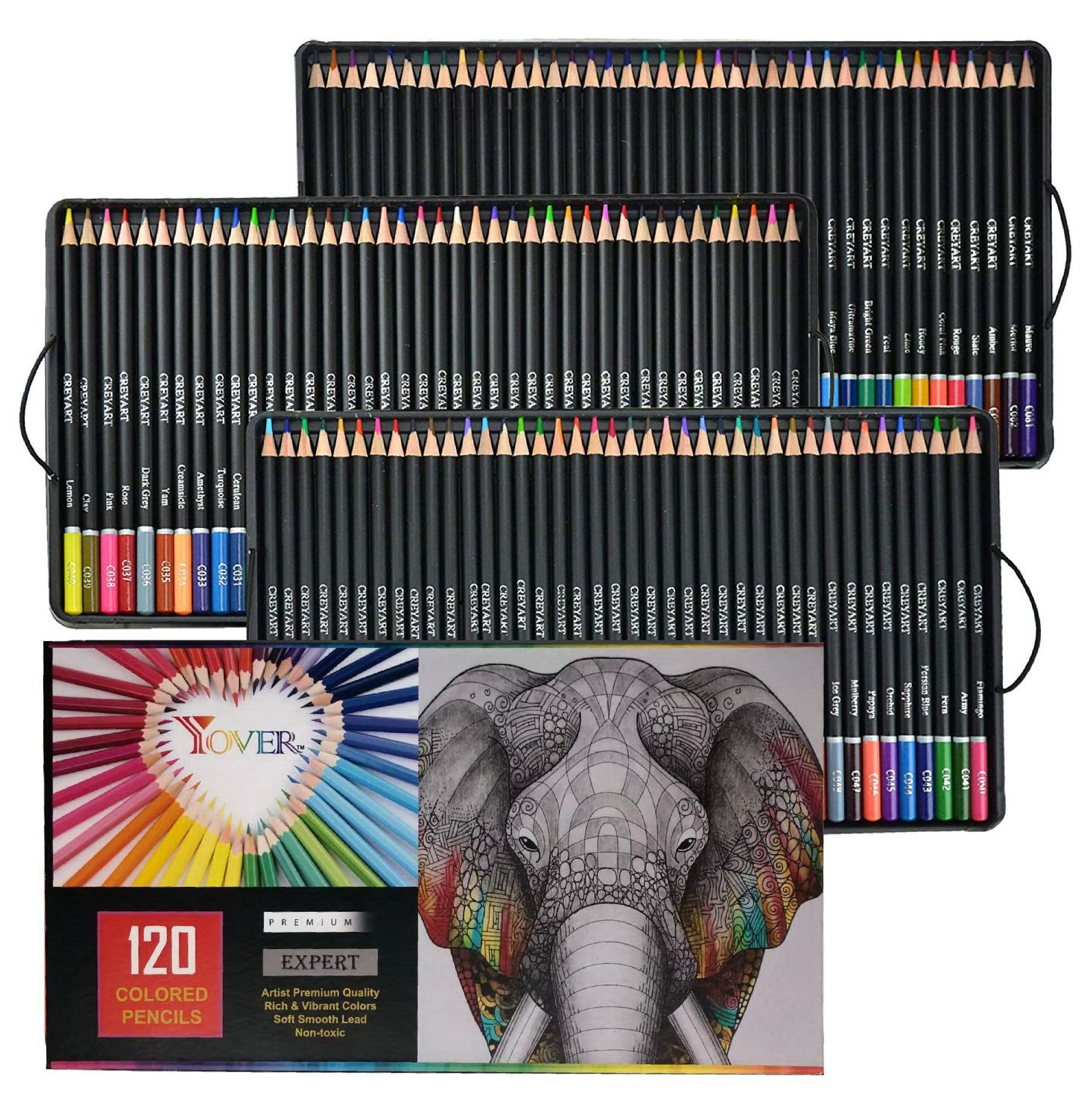 120 Professional Lapis Colored Pencils Oil Color Set Pencils For Chilren Drawing Crayons