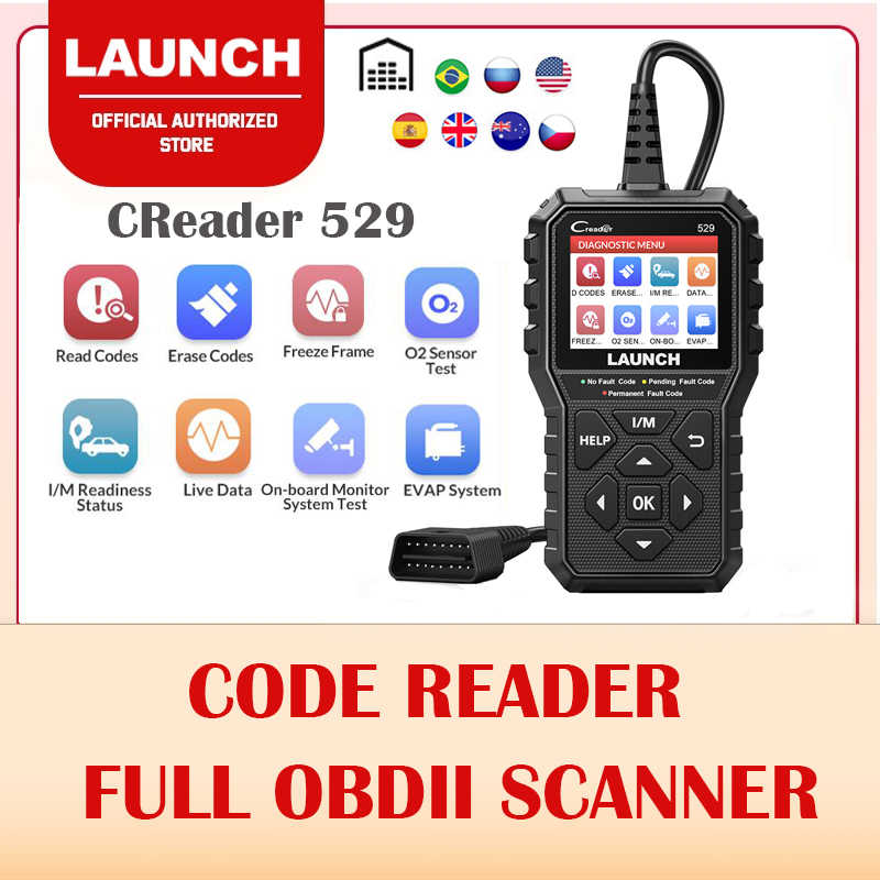 Launch Creader 529 CR529 Obd 2 Auto Scanner Diy Code Reader Auto Diagnostische Scanner Automotive Reparatie Tools